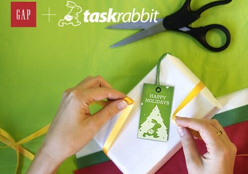 TaskRabbit Gap Holiday Partnership 2012
